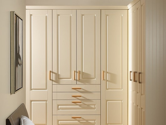 ivory fitted wardrobe