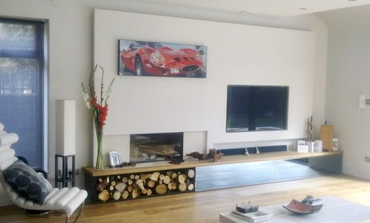 built-in tv unit